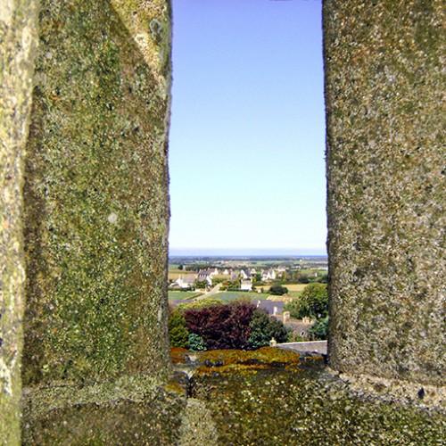 Vue du clocher de la chapelle Notre Dame de Berven