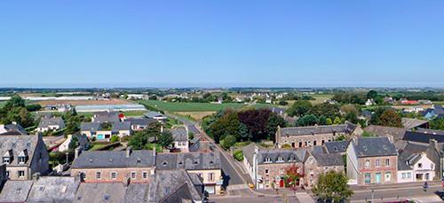 Panoramique de la ville de Plouzévédé