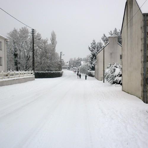 Plouzévédé sous la neige hiver 2014
