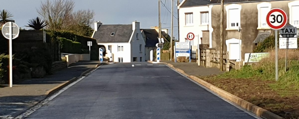 La rue de Landi après les travaux