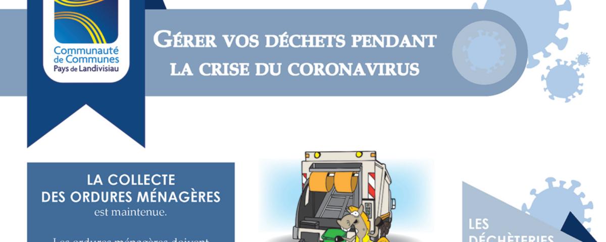 la gestion des déchets en temps d ecoronavirus