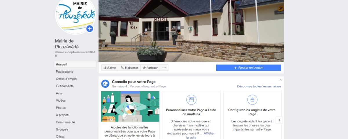 la nouvelle page Facebook de Plouzévédé